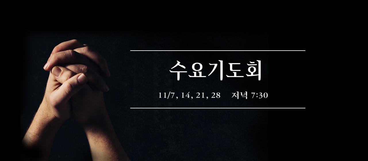 2018년11월 특별 수요기도회