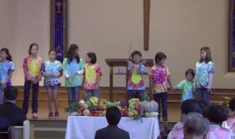 주일 한글학교 추수감사절 발표