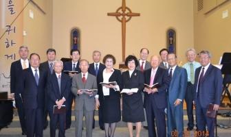 교회 창립 40주년 기념 은퇴 장로님 특송
